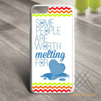 olaf disney frozen colorful chevron Custom case for iPhone, iPod and iPad