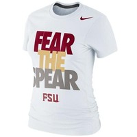 Nike Florida State Seminoles (FSU) Ladies Fear the Spear 2013 Local T-Shirt - White