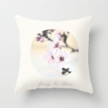 Spring In Bloom Throw Pillow by ARTbyJWP