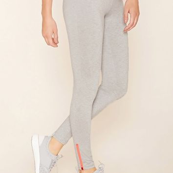 Active Heathered Zip Leggings
