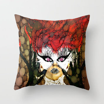 Strange  Throw Pillow by Poetry Written In Art