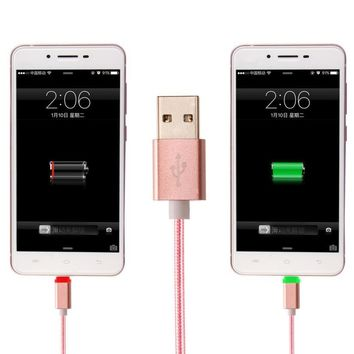 3' Colorful Charger for phone USB to Micro USB
