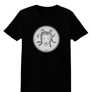 Medusa Head Coin - Greek Mythology Womens Dark T-Shirt by TooLoud