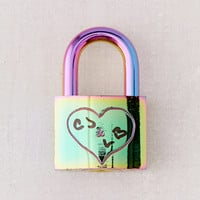 Oil Slick Love Lock | Urban Outfitters