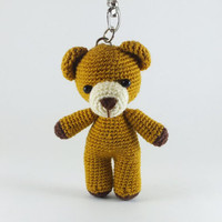 Brown Bear Amigurumi / Crochet Doll Charm