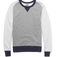 J.Crew - Exeter Panelled Loopback Cotton-Jersey Sweatshirt | MR PORTER