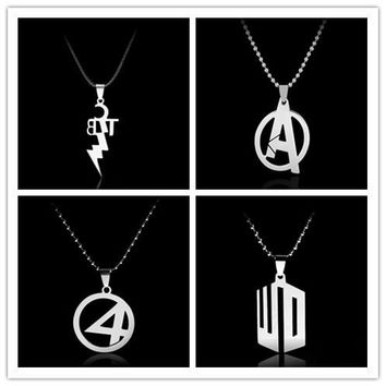 the Avenger Superman Batman Captain America Green Lantern Sailor Moon Resident Evil WOW Stainless Steel Necklace Rope Chain