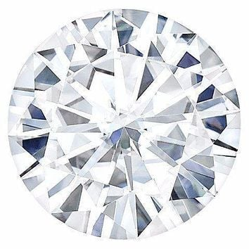 Certified Round Hearts & Arrows Forever One Charles & Colvard Loose Moissanite Stone - 2.00 Carats - D Color - VVS2 Clarity