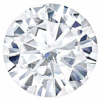 Certified Round Hearts & Arrows Forever One Charles & Colvard Loose Moissanite Stone - 1.25 Carats - D Color - VVS1 Clarity