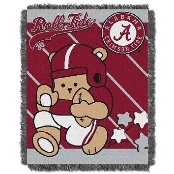 "Alabama Crimson Tide NCAA Half Court Baby 36""x 46"" Triple Woven Jacquard Throw"