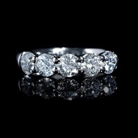 1.82ct Diamond Platinum Wedding Band Ring