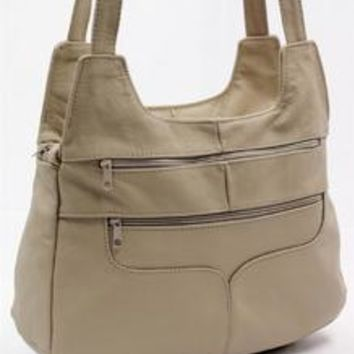 Mexican Leather Hobo Leather Bag-Tan