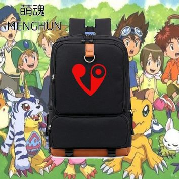 Japanese Anime Bag New designs cool  fans backpack Digital Monster emblem logo printing backpacks black nylon backpack NB109 AT_59_4