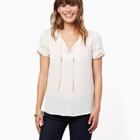 Isobel Pleated Blouse | Fashion Apparel and Clothing - Shirts and Tops | charming charlie