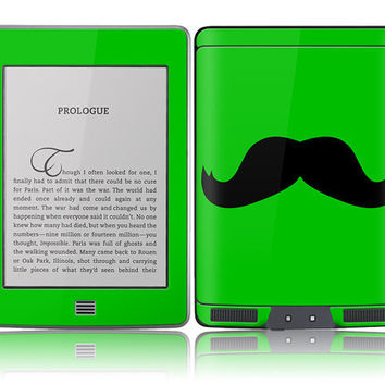 Amazon Kindle Touch Skin Cover Green Mustache by stickitskins