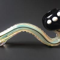 Black Stripe Color Changing Sherlock Glass Pipe