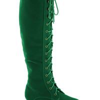 Everything Bold Is New Boots in Emerald | Mod Retro Vintage Boots | ModCloth.com
