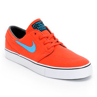 Nike SB Zoom Stefan Janoski Light Crimson, Vivid Blue, & Black Skate Shoe