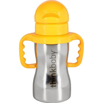 Thinkbaby Bottle - Thinkster - Of Steel - with Cover and Spout - 9 oz