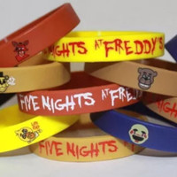 Fnaf FIVE NIGHTS at FREDDY'S Silicone Bracelets New Look!! Party 12 Pack