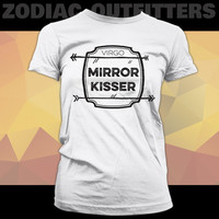 VIRGO / Zodiac / Astrology  / Dark Side / White Ladies Graphic Tee Shirt