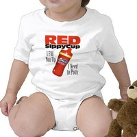 Red Sippy Cup T-shirt from Zazzle.com