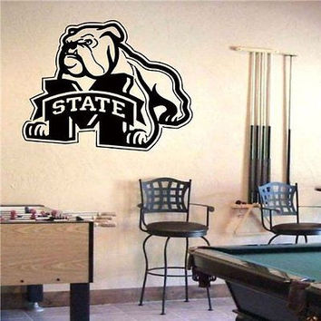 NCAA Mississippi State Bulldogs Logo Wall Art Sticker Decal (S407)
