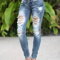 Super Destroyed Skinny Jeans