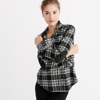 Womens Heavyweight Flannel Shirt Jacket | Womens Clearance | Abercrombie.com