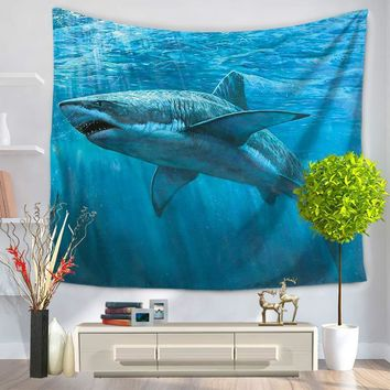 150*200cm Mandala Tapestry Indian Style Shark Hippie Wall Hanging Tapestries Beach Throw Towel Gypsy Bed Sheet Home Decoration