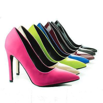 Cindy By Delicious, Pointy Toe Slip On Classic Stiletto Heel Pumps