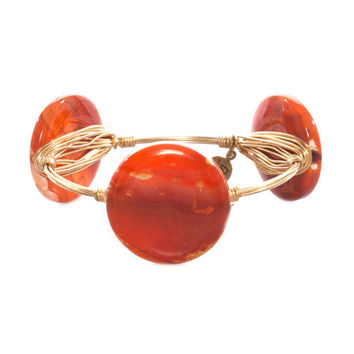 Bourbon and Boweties Medium Blood Orange Round Bangle
