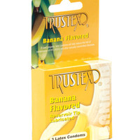 Trustex Flavored Condoms 3 Pack - Banana