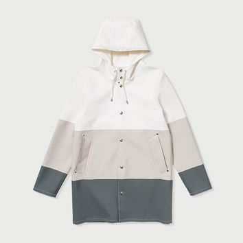 Large Stripe White/Light Sand/Grey – Stutterheim Raincoats