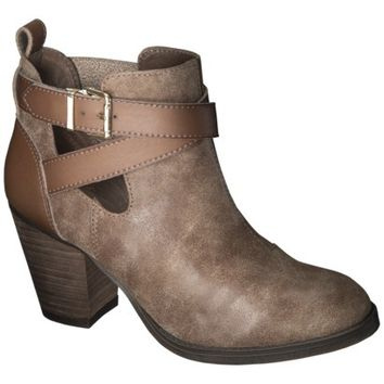 Women's Mossimo Supply Co. Keagan Ankle Boot - Cognac