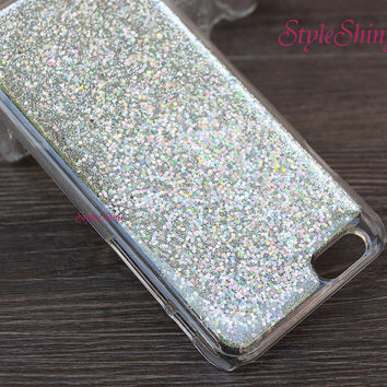 iphone 6 plus, Real glitter, iphone 6 case, iPhone 5s case, iPhone 5c case, Note3 case, Real Glitter Pink Silver Glittery, Phone cover-044