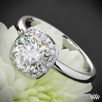 "18k White Gold ""Guinevere"" Solitaire Engagement Ring"