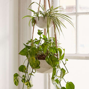 Ellis Double Hanging Planter - Urban Outfitters