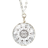 """One Kings Lane - Close to Your Heart - 1-3/8"""" Silver Round Locket, 20"""" Chain"""
