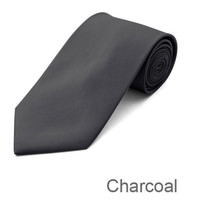 Charcoal Wedding Tie and Hanky Set