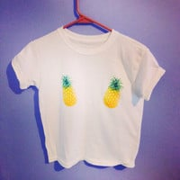 Hello pineapple tee shirt by CrewOnly on Etsy