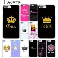 Lavaza Daisy Flower Bitch I am Queen crown king PRINCESS Phone Case for iPhone XR XS Max X 8 7 6 6S Plus 5 5S SE 5C 4S 10 Cover
