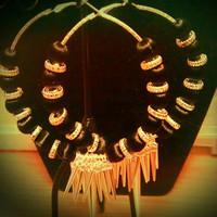 Love and Hip Hop and Basketball wives inspired hoop with black and silver beads