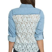Crochet Back Denim Shirts