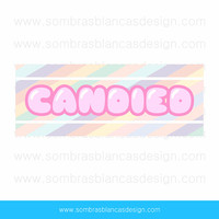 OOAK Premade Logo Design - Candy Letters - Perfect or a sweet shop or a party props brand