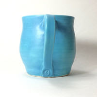 Large blue pottery mug,sky blue mug,16oz. pottery mugs,handmade ceramic mug, Ready to Ship,Tea Mug,Coffee Mug,beer mug