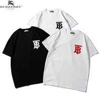 Burberry trend bt letter print men's and women's short-sleeved T-shirt