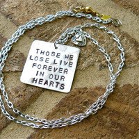 Loss Sympathy Necklace by Crafting4Cause on Etsy
