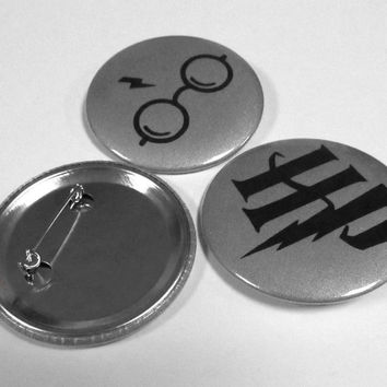 Reflective Badges, Harry Potter, Badges with symbols Harry Potter, Hi-visibility reflective badges, Perfect gift for anyone, Set 3 badges