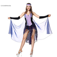 Charmian Women's Seductive Sorceress Adult Performance Dancer Halloween Costume Carnival Fantasias Feminina Para Festa